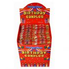 24 x Birthday Cake Candles & 12 Holders - PINK & BLUE Wholesale Bulk Buy 24 PACKS